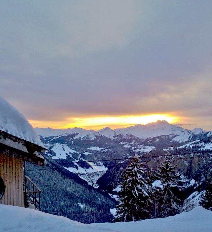 montagne-La montagne en hiver - Neige à Avoriaz en Savoie | Coucher de soleil sur la montagne-6