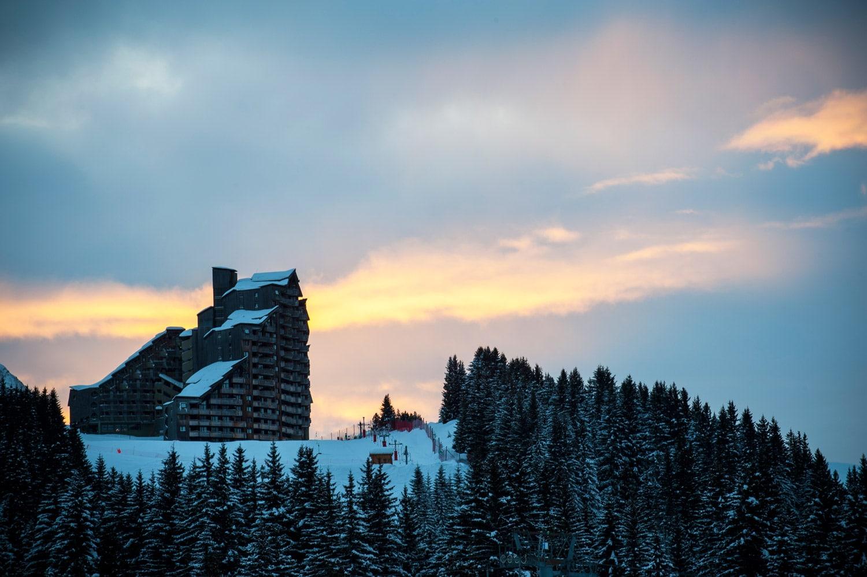 La montagne en hiver - Neige à Avoriaz en Savoie | Avoriaz au coucher de soleil par Pierre